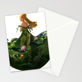 Naiad with Pond Dress Stationery Cards