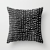 dots Throw Pillows featuring Dots by Marie Yates