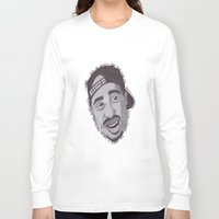 "tupac Long Sleeve T-shirts featuring Tupac ''State Of Mind"" by SkilledCreativity"