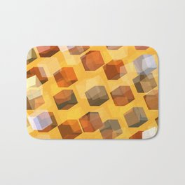 transparent cubes Bath Mat