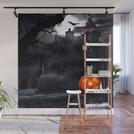 Halloween Night Pumpkin Wall Mural