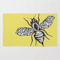bee Area & Throw Rugs featuring Bee by Aubree Eisenwinter
