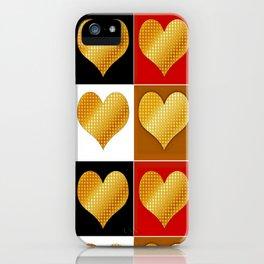 Golden Heart 4 in 1 iPhone Case