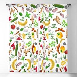 Kiss the Cook Vegetarian & Vegan Blackout Curtain