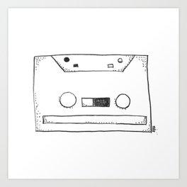 cassette tape Art Print