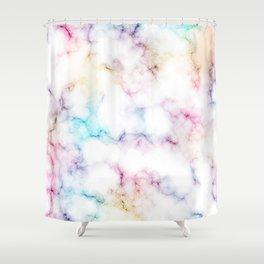 Rainbow Marble Pattern Shower Curtain