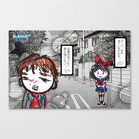manga Canvas Prints featuring Shoujo Manga  by I love Bubbah