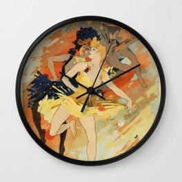 Dance ballet by Jules Chéret Wall Clock