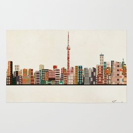 toronto city skyline Rug