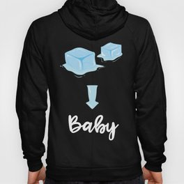 Ice Ice Baby Pregnancy Announcement Pregnant Baby Shower Hoody