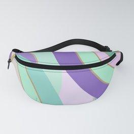 Retro lilac mint curvy lines pillow Fanny Pack