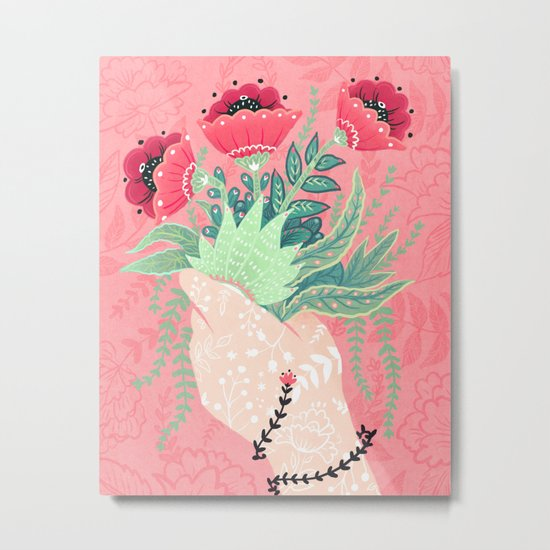 Pink Bouquet Metal Print
