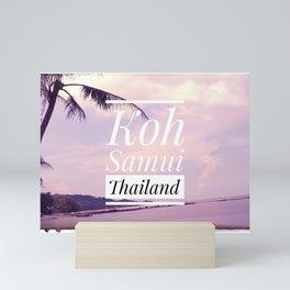 Sunset Koh Samui Thailand on a beach Mini Art Print