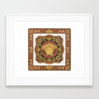 versace Framed Art Prints featuring Classic Versace by Goldflakes