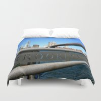 brooklyn Duvet Covers featuring Brooklyn by Gold Street Photography