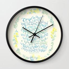 Come to Me - Matthew 11:28-30 Wall Clock