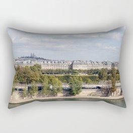 Panoramic view of Paris Rectangular Pillow