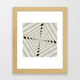 Playing with Matches Framed Art Print