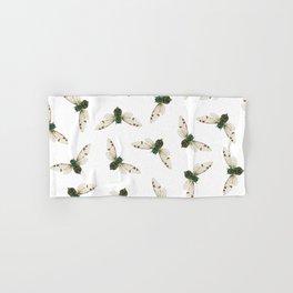 Cicada Jewels (White & Noir) Hand & Bath Towel
