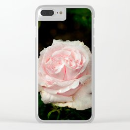 Rose twins with droplets Clear iPhone Case
