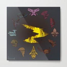 Pacific Rim Kaiju Clock Metal Print