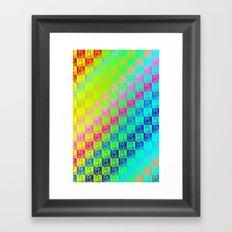 Little dogs multicolor Framed Art Print