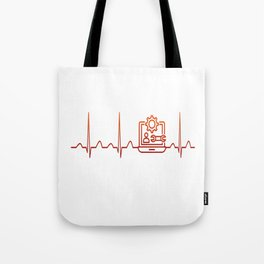Software Engineer Heartbeat Tote Bag