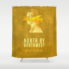 NORTH BY NORTHWEST - Hitchcok Poster Shower Curtain