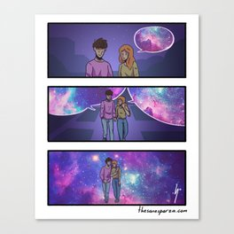 Tell me more about your world. Canvas Print