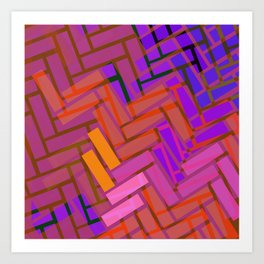 Pop Colored Blanks Art Print