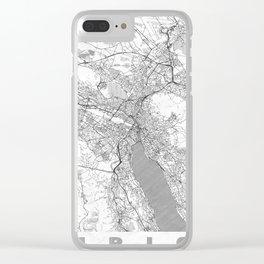 Zurich Map Line Clear iPhone Case