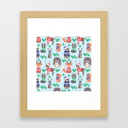 Christmas woodland Framed Art Print