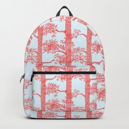 Pine Forest (Light Blue and Red) Backpack