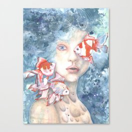 Under the Water and Dreaming Canvas Print