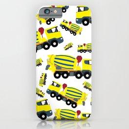 Concrete Cement Truck Construction Trucks Pattern iPhone Case