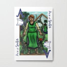 Ace of Spells Metal Print