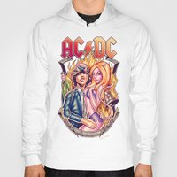 acdc Hoodies featuring Highway to ACDC by Renato Cunha