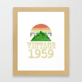 Lustiges Geburtstagsgeschenk für den runden Geburtstag Birthday  Framed Art Print