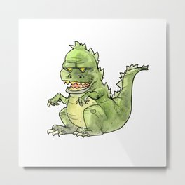 Little Zilla Metal Print