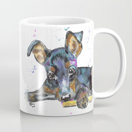 Miniature Pinscher Watercolor Coffee Mug