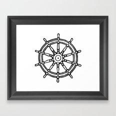 Ship's Helm - Captain's Wheel - Rudder Framed Art Print