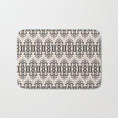 Art Deco . Black and beige pattern . Bath Mat