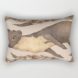 The Marten and Foxglove Rectangular Pillow