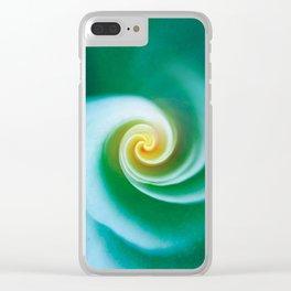 Green Swirl Clear iPhone Case
