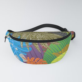 Rainbow Dancing Leaves Fanny Pack