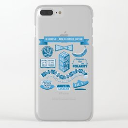 10 Timey Wimey Things Clear iPhone Case