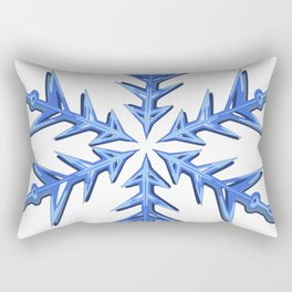 Minimalistic Ice Blue Snowflake Rectangular Pillow