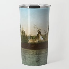 Crow Indian Camp on the Rivers Edge Travel Mug