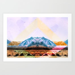 pyramid mind Art Print