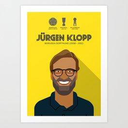 Jürgen Klopp Borussia Dortmund Legend Art Print